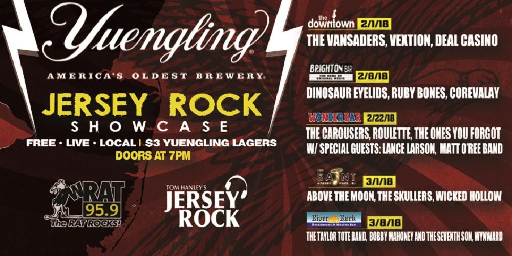 Jersey Rock Showcase Series Rocks 5 Free Shows This Winter!