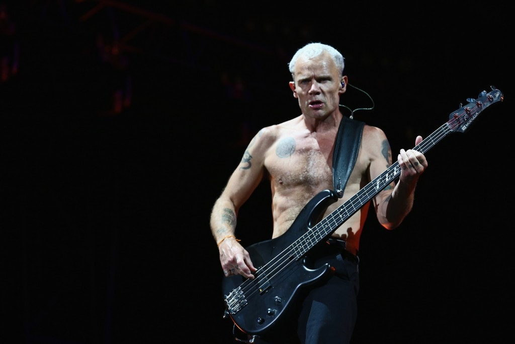 NEWPORT, ISLE OF WIGHT - JUNE 14:  Red Hot Chili Peppers performs at The Isle of Wight Festival at Seaclose Park on June 14, 2014 in Newport, Isle of Wight.  (Photo by Tim P. Whitby/Getty Images)