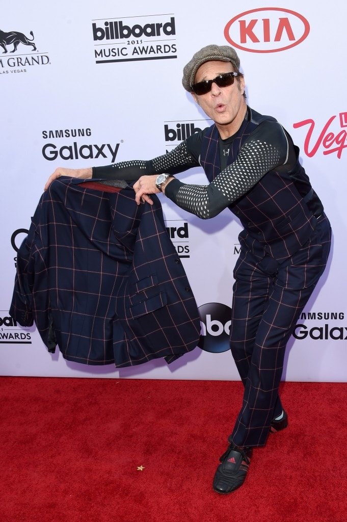 LAS VEGAS, NV - MAY 17:  Singer David Lee Roth of Van Halen attends the 2015 Billboard Music Awards at MGM Grand Garden Arena on May 17, 2015 in Las Vegas, Nevada.  (Photo by Jason Merritt/Getty Images)