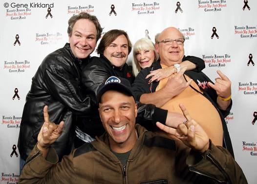Eddie Trunk, Tom Morello, Jack Black, Wendy Dio & Kyle Gass at Pinz  Photo by Gene Kirkland