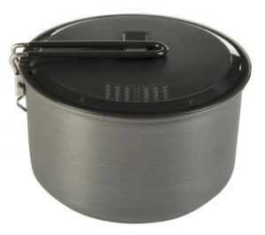 camping pot with lid
